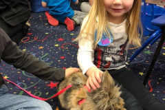 A visit from Benji the bunny